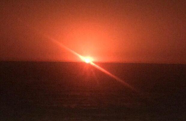 SON DƏQİQƏ:Xəzər dənizində GÜCLÜ PARTLAYIŞ – VİDEO